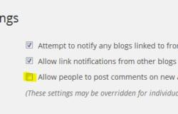 Cách để: Vô hiệu hóa nhận xét của WordPress