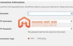 Hướng dẫn fix lỗi hỏi mật khẩu FTP trên WordPress khi upgrade và install theme và plugin