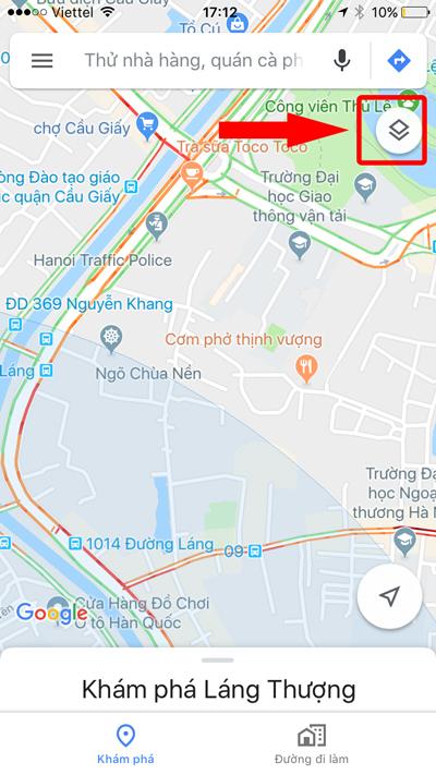 google maps hiển thị tình trạng giao thông tại hà nội